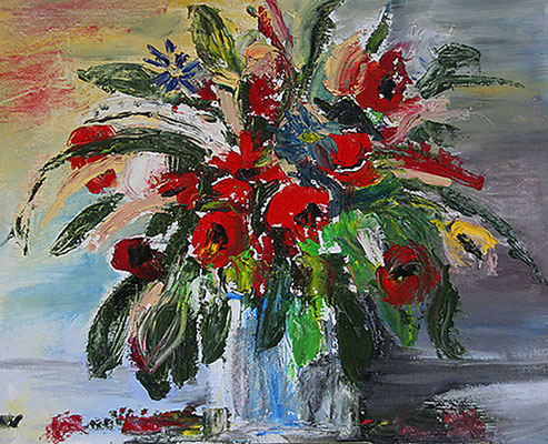 2003  Vase mit Frühlingsblumen 40x50  vk
