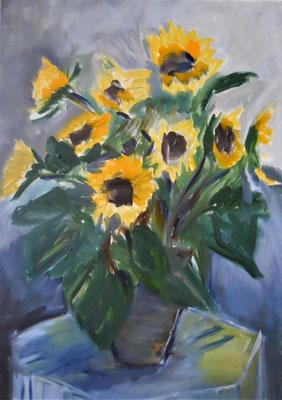 2018 Sonnenblumen 50x70 Öl