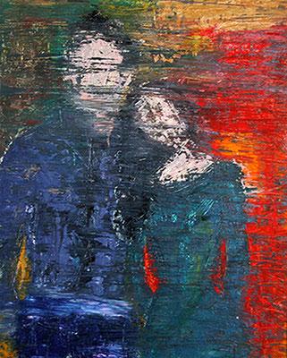 2006  Paar-grün 40x50 Öl