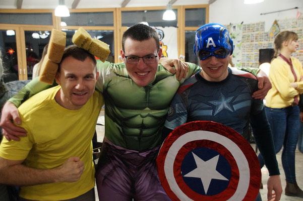 drei Superhelden