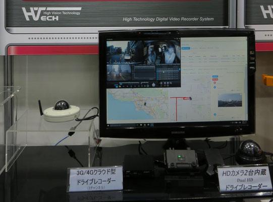 LTE対応ドライブレコーダー 展示品写真