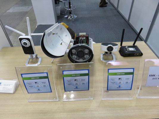 LTE対応IPカメラ 展示品写真