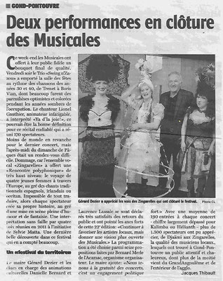 La Charente Libre du 8 avril 2015