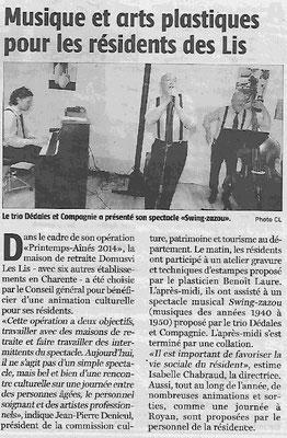 La Charente Libre du 12 mai 2014
