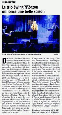 La Charente Libre du 2 avril 2016