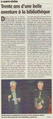 La Charente Libre du 25 mars 2014
