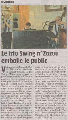 La Charente Libre du 27 mai 2013