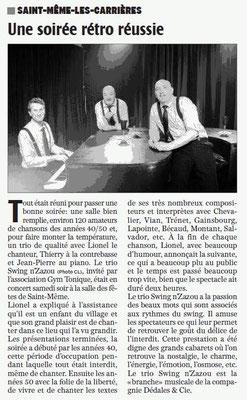 La Charente Libre du 25 février 2016