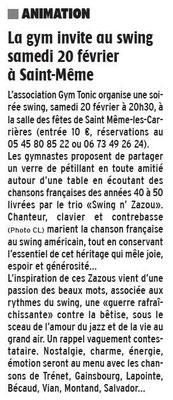 La Charente Libre, février 2016