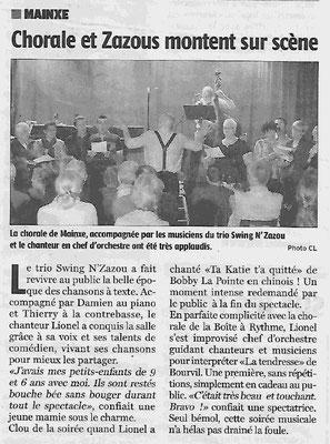La Charente Libre du 23 avril 2016