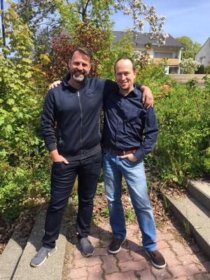 Herr Steinhanses und Herr Bartlett 06/2020