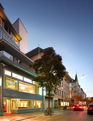 hotel marta near the old town of zurich