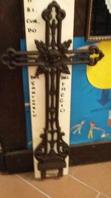 Croce di ferro proveniente dal Santuario del Faggio