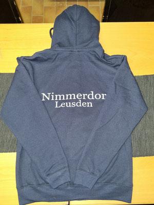 Achterkant van club vest voor LR Nimmerdor