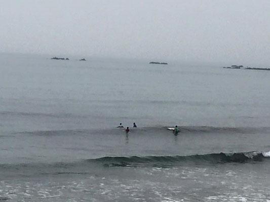 波は超小波で岩が時折出てきてました(笑)