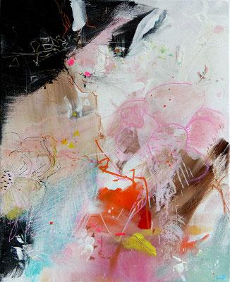 """""""Le renard"""" Acrylique sur toile Dim 27cmx22cm"""