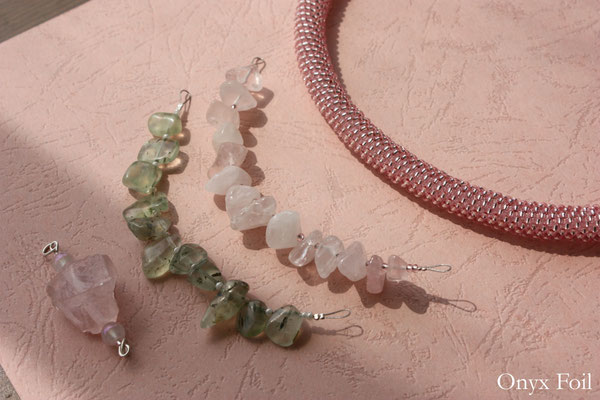 """So raw and clear"" jewelry set"