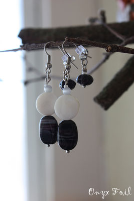 """Pearl glass"" earrings"