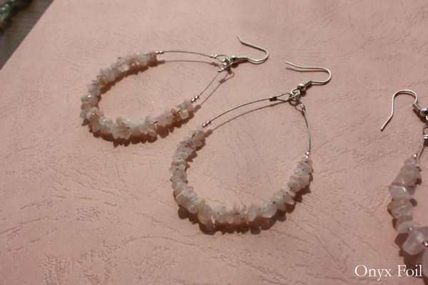 """Rose quartz dream"" earrings"