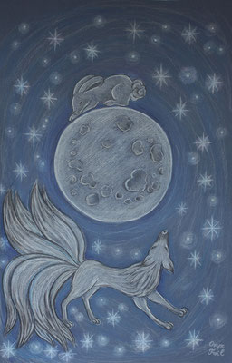 Hare, Fox and Moon