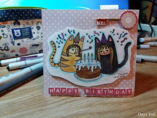 """Happy Birthday! - Max&Nelly"" postcard"