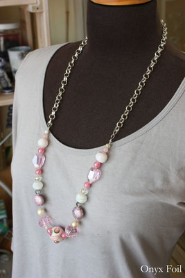 """Candies from my childhood"" beaded necklace"