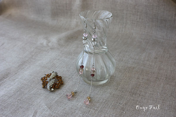 """Evening in Paris"" earrings"