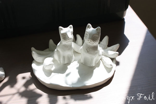 """""""Seven-tailed spirits-guardians"""" (ring holder)"""