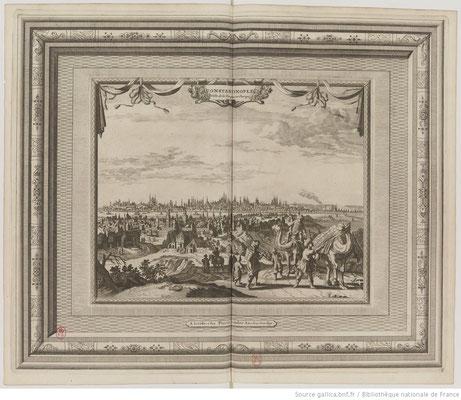 Constantinople, vue tirée de La galerie agréable du monde, éditée en 1729 par Van Der Aa. / BNF/Gallica