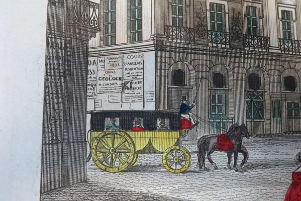 Paris, Place des Victoires, détail / Abbeville, Musée Boucher-de-Perthes