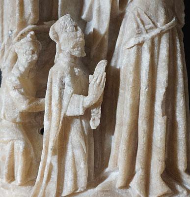 Couronnement, détail, Thomas tient la ceinture de la Vierge
