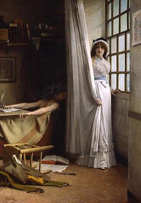 Aviat Jules, Charlotte Corday, mort de Marat, 1880 / Vizille, musée de la Révolution française