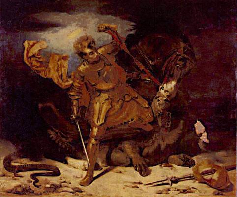 Jules-Claude Ziegler, Saint Georges victorieux, 1833 / Saint-Omer, cathédrale Notre-Dame