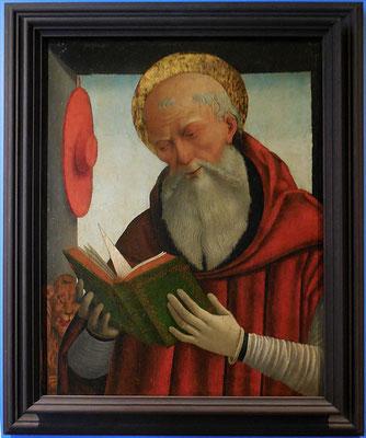 Geminiano di Bongiovanni Benzoni, saint Jérôme lisant, vers 1490 - Ferrare / Chaalis, abbaye