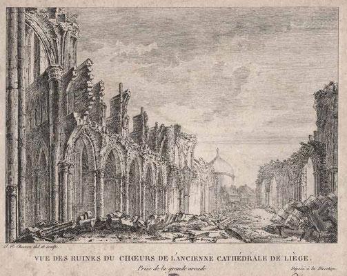 Liège, ruines du choeur de l'ancienne cathédrale / Abbeville, Musée Boucher-de-Perthes