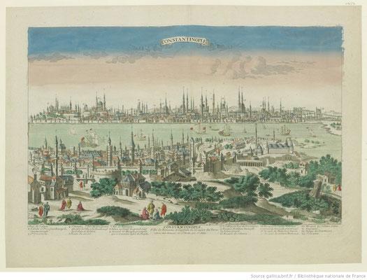 Constantinople, Ville de Romanie et Capitale de l'Empire des Turcs / BNF Gallica
