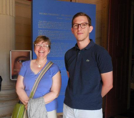 François Séguin, conservateur du patrimoine -Amiens métropole, et Brigitte Bousquet, présidente de l'association des Amis du musée Boucher-de-Perthes