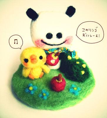パンダとヒヨコのピクニック