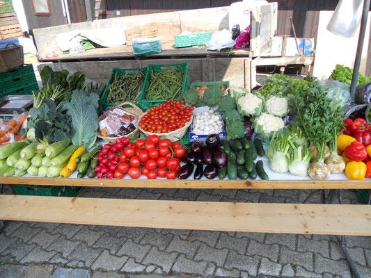Der Stand ist Fertig. Hier das Gemüse.