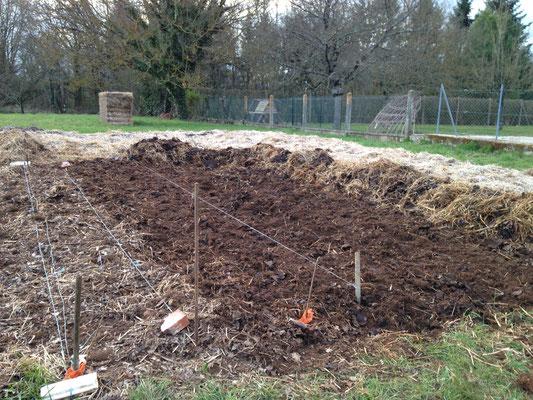 Décompactage du sol à la grelinette (mars 2018)