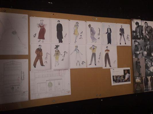 Über Kostümentwürfe...
