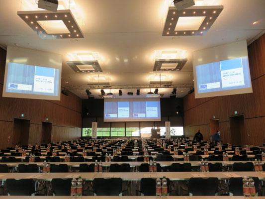 Der grosse Saal im Campus Sursee ist bereit