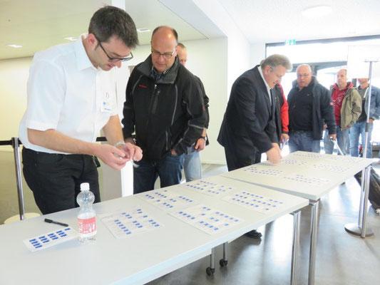 Anmeldung bei Marco Imhof und Andreas Mori vom SBV