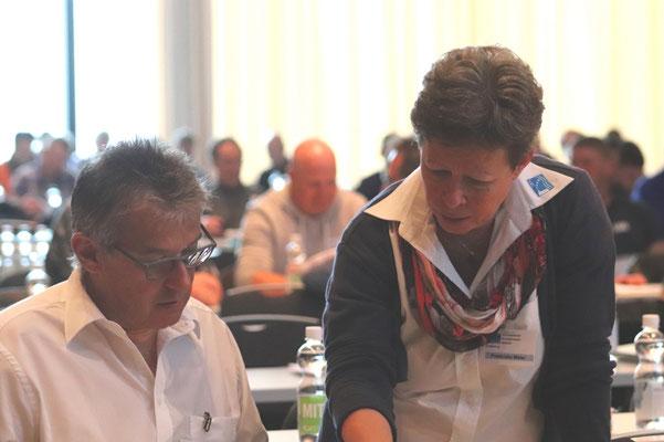 Walter Schuler und Franziska Meier vom SBV