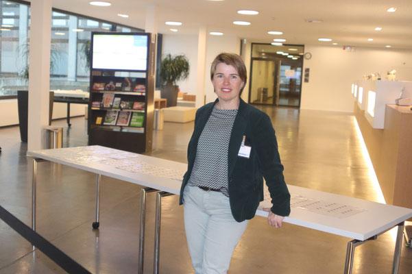 Angelika Zberg-Renggli bei der Anmeldung