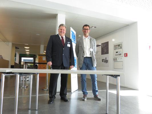 Res Mori und Marco Imhof: Freundliche Begrüssung am Morgen