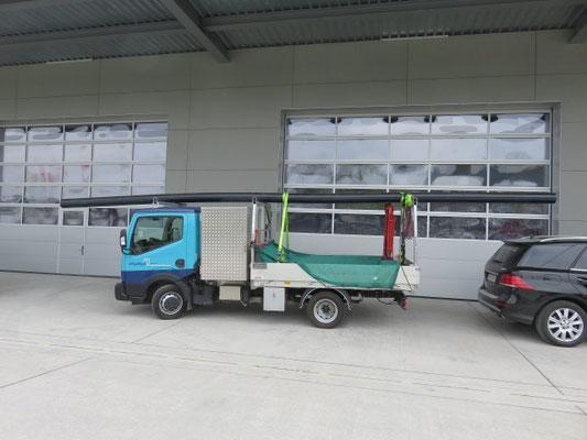 Beispiel von Ladungssicherung