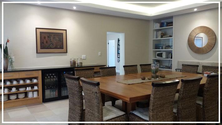 Breakfast room with self- serve bar fridge