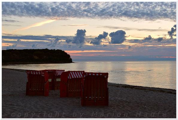 Sonnenaufgang am Lobber Ort.