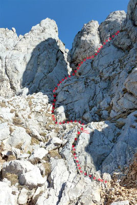 Aufstieg Naturfreunde-Steig